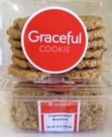 Oatmeal Raisin , 8 clam shells / 12 cookies / 10 oz ea